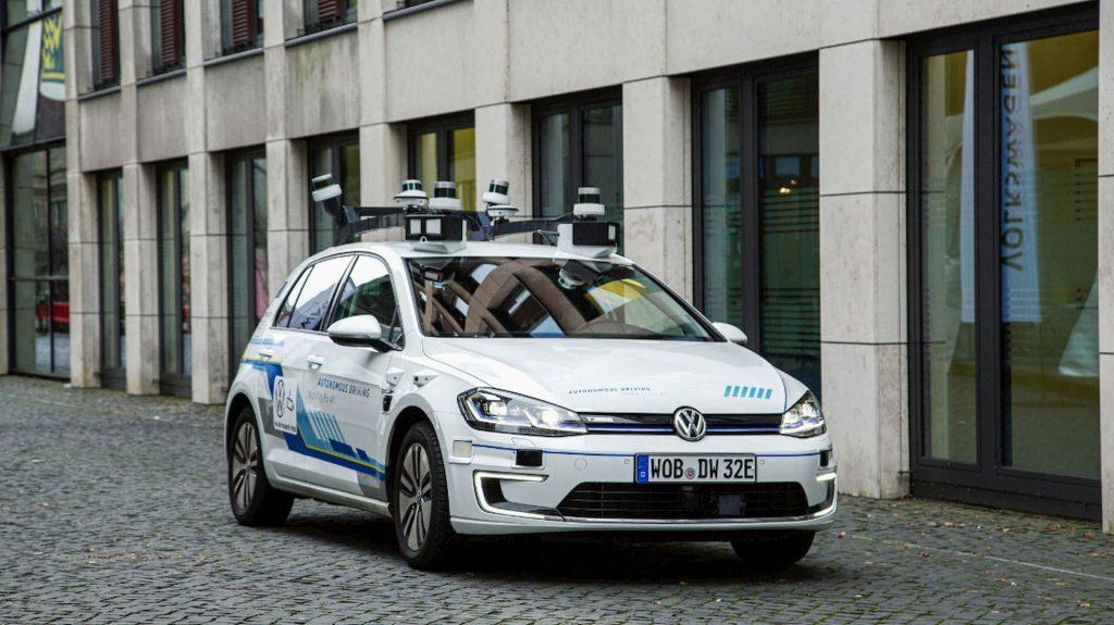 test del coche autónomo de Volkswagen