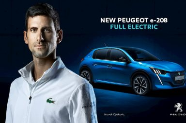 Peugeot lanza la nueva campaña internacional e-208 con Novak Djokovic